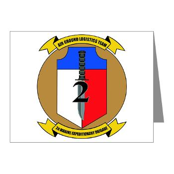 2MEB - M01 - 02 - 2nd Marine Expeditionary Brigade - Note Cards (Pk of 20)
