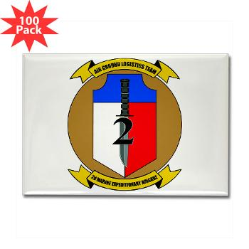 2MEB - M01 - 01 - 2nd Marine Expeditionary Brigade - Rectangle Magnet (100 pack)