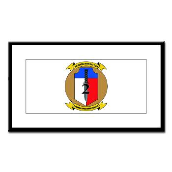 2MEB - M01 - 02 - 2nd Marine Expeditionary Brigade - Small Framed Print