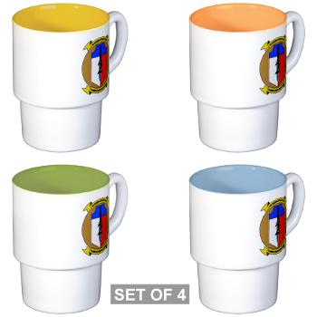 2MEB - M01 - 03 - 2nd Marine Expeditionary Brigade - Stackable Mug Set (4 mugs)