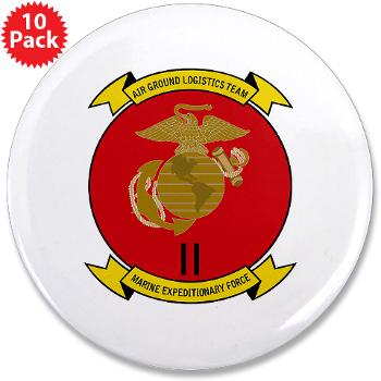 "2MEF - M01 - 01 - 2nd Marine Expeditionary Force 3.5"" Button (10 pack)"
