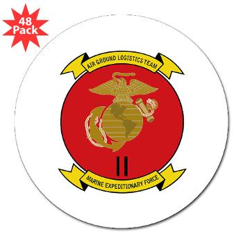"2MEF - M01 - 01 - 2nd Marine Expeditionary Force 3"" Lapel Sticker (48 pk)"