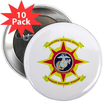 "2MLG - M01 - 01 - 2nd Marine Logistics Group - 2.25"" Button (10 pack)"
