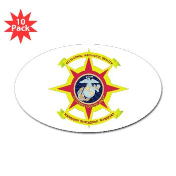 2MLG - M01 - 01 - 2nd Marine Logistics Group - Sticker (Oval 10 pk)