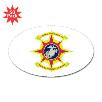 2MLG - M01 - 01 - 2nd Marine Logistics Group - Sticker (Oval 50 pk)