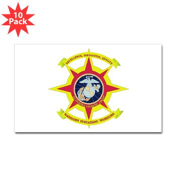 2MLG - M01 - 01 - 2nd Marine Logistics Group - Sticker (Rectangle 10 pk)