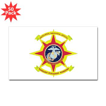 2MLG - M01 - 01 - 2nd Marine Logistics Group - Sticker (Rectangle 50 pk)