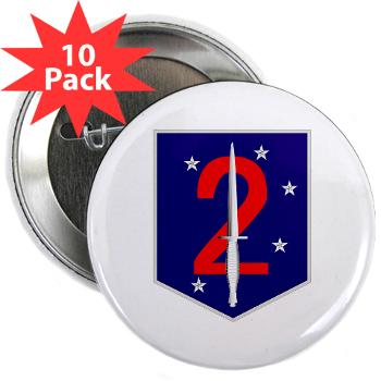 "2MSOB - M01 - 01 - 2nd Marine Special Operations Bn - 2.25"" Button (10 pack)"