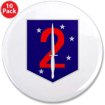 "2MSOB - M01 - 01 - 2nd Marine Special Operations Bn - 3.5"" Button (10 pack)"
