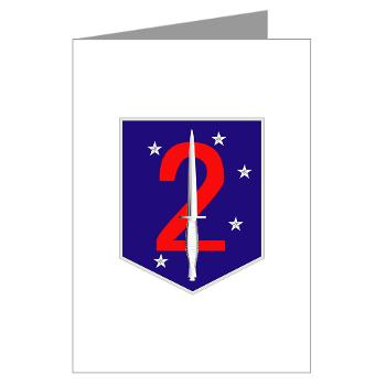 2MSOB - M01 - 02 - 2nd Marine Special Operations Bn - Greeting Cards (Pk of 10)