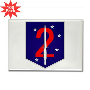 2MSOB - M01 - 01 - 2nd Marine Special Operations Bn - Rectangle Magnet (100 pack)