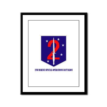 2MSOB - M01 - 02 - 2nd Marine Special Operations Bn with Text - Framed Panel Print