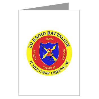 2RB - A01 - 01 - USMC - 2nd Radio Battalion - Greeting Cards (Pk of 10)