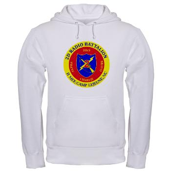 2RB - A01 - 01 - USMC - 2nd Radio Battalion - Hooded Sweatshirt