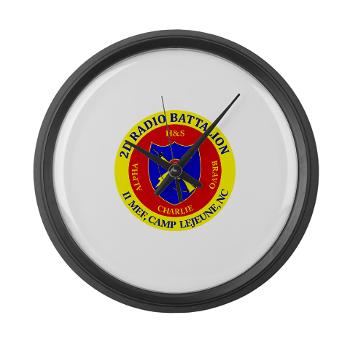 2RB - A01 - 01 - USMC - 2nd Radio Battalion - Large Wall Clock