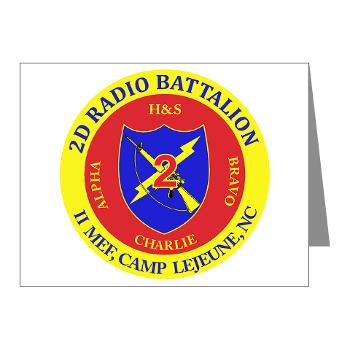 2RB - A01 - 01 - USMC - 2nd Radio Battalion - Note Cards (Pk of 20)