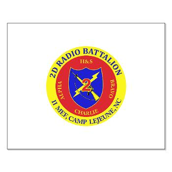 2RB - A01 - 01 - USMC - 2nd Radio Battalion - Small Poster