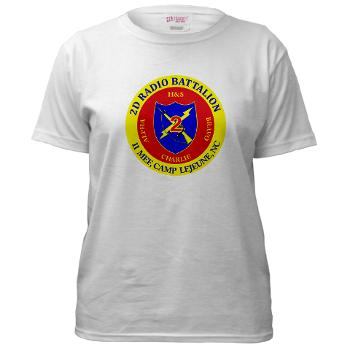 2RB - A01 - 01 - USMC - 2nd Radio Battalion - Women's T-Shirt