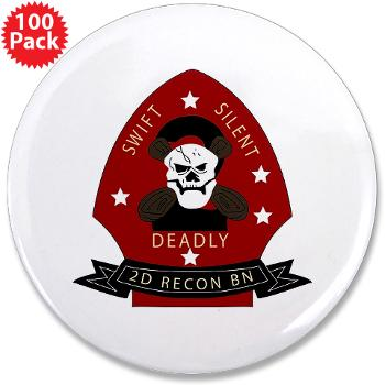 "2RB - M01 - 01 - 2nd Reconnaissance Bn 3.5"" Button (100 pack)"