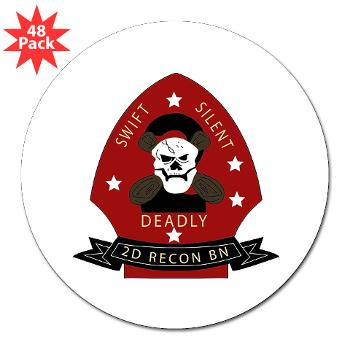 "2RB - M01 - 01 - 2nd Reconnaissance Bn 3"" Lapel Sticker (48 pk)"