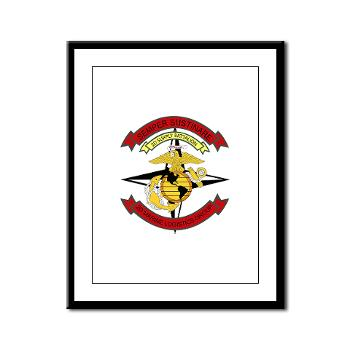 2SB - M01 - 02 - 2nd Supply Battalion - Framed Panel Print