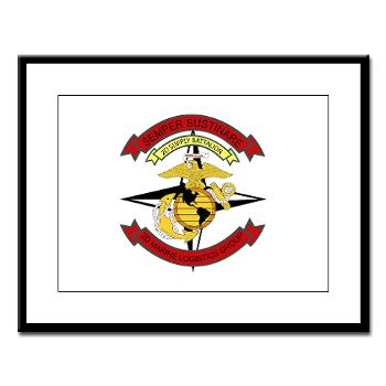 2SB - M01 - 02 - 2nd Supply Battalion - Large Framed Print