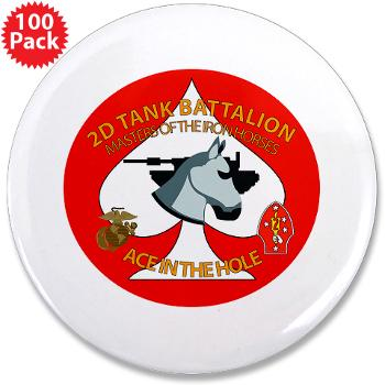 "2TB - M01 - 01 - 2nd Tank Battalion - 3.5"" Button (100 pack)"
