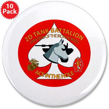 "2TB - M01 - 01 - 2nd Tank Battalion - 3.5"" Button (10 pack)"