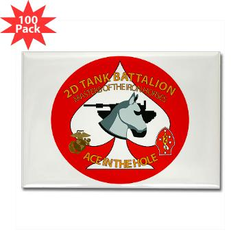 2TB - M01 - 01 - 2nd Tank Battalion - Rectangle Magnet (100 pack)