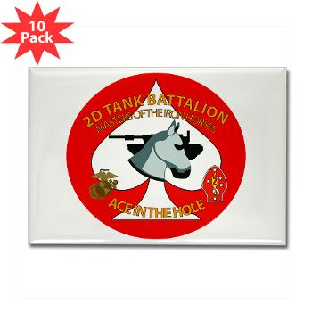 2TB - M01 - 01 - 2nd Tank Battalion - Rectangle Magnet (10 pack)