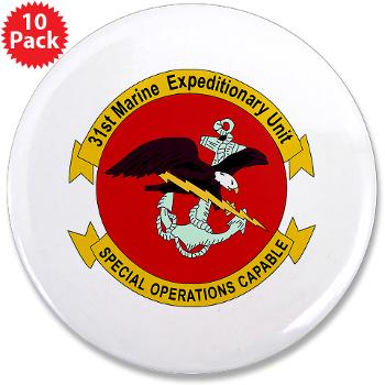 "31MEU - M01 - 01 - 31st Marine Expeditionary Unit 3.5"" Button (10 pack)"
