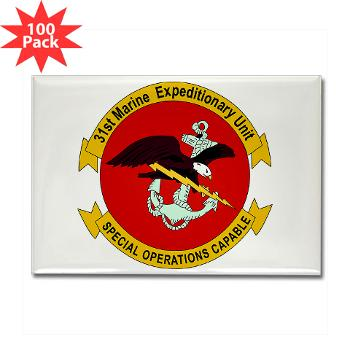 31MEU - M01 - 01 - 31st Marine Expeditionary Unit Rectangle Magnet (100 pack)