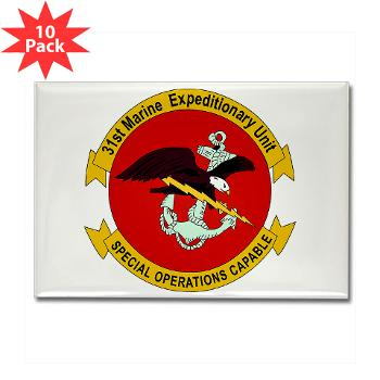 31MEU - M01 - 01 - 31st Marine Expeditionary Unit Rectangle Magnet (10 pack)