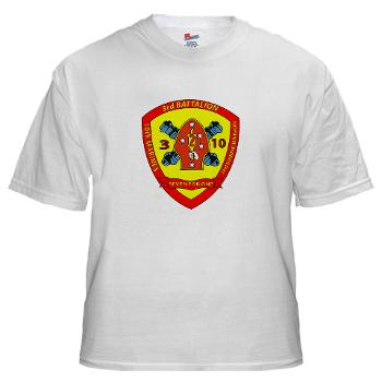 3B10M - A01 - 01 - USMC - 3rd Battalion 10th Marines - White T-Shirt