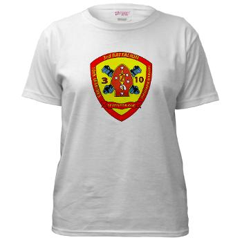 3B10M - A01 - 01 - USMC - 3rd Battalion 10th Marines - Women's T-Shirt