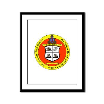 3B11M - M01 - 02 - 3rd Battalion 11th Marines Framed Panel Print