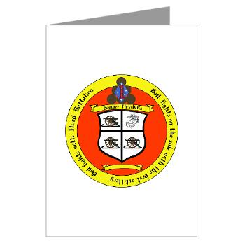 3B11M - M01 - 02 - 3rd Battalion 11th Marines Greeting Cards (Pk of 10)