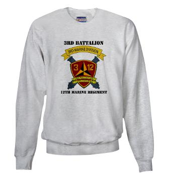 3B12M - A01 - 03 - 3rd Battalion 12th Marines - Sweatshirt