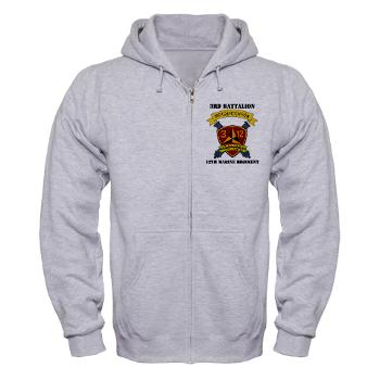 3B12M - A01 - 03 - 3rd Battalion 12th Marines - Zip Hoodie
