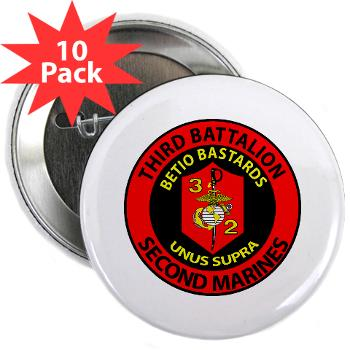 "3B2M - M01 - 01 - 3rd Battalion - 2nd Marines - 2.25"" Button (10 pack)"