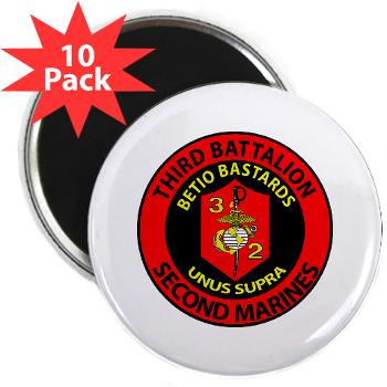 "3B2M - M01 - 01 - 3rd Battalion - 2nd Marines - 2.25"" Magnet (10 pack)"