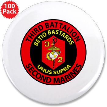 "3B2M - M01 - 01 - 3rd Battalion - 2nd Marines - 3.5"" Button (100 pack)"