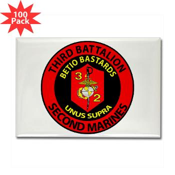 3B2M - M01 - 01 - 3rd Battalion - 2nd Marines - Rectangle Magnet (100 pack)