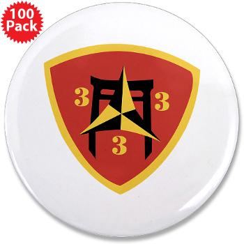 "3B3M - M01 - 01 - 3rd Battalion 3rd Marines 3.5"" Button (100 pack)"