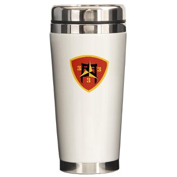 3B3M - M01 - 03 - 3rd Battalion 3rd Marines Ceramic Travel Mug