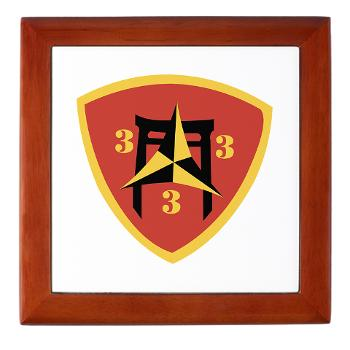 3B3M - M01 - 03 - 3rd Battalion 3rd Marines Keepsake Box