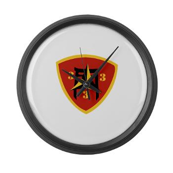 3B3M - M01 - 03 - 3rd Battalion 3rd Marines Large Wall Clock