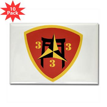 3B3M - M01 - 01 - 3rd Battalion 3rd Marines Rectangle Magnet (10 pack)