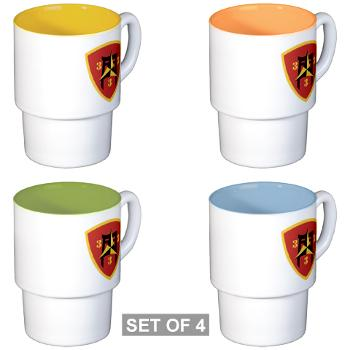 3B3M - M01 - 03 - 3rd Battalion 3rd Marines Stackable Mug Set (4 mugs)