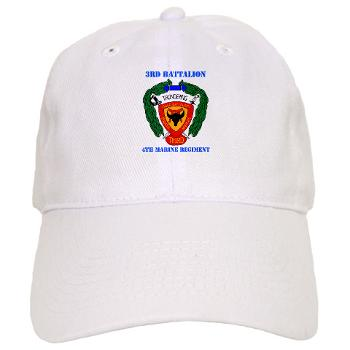 3B4M - A01 - 01 - 3rd Battalion 4th Marines with Text - Cap